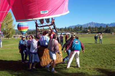 hot air ballon launch