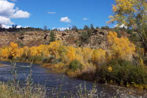 San Juan River flowing through Pagosa Springs South