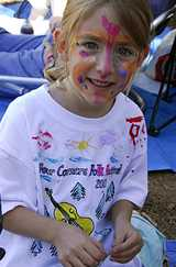 Face painting is popular with the youngsters at several local events