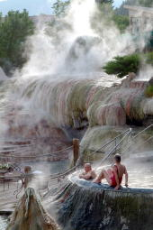 Hot mineral soaks at the Springs - the ultimate in relaxation